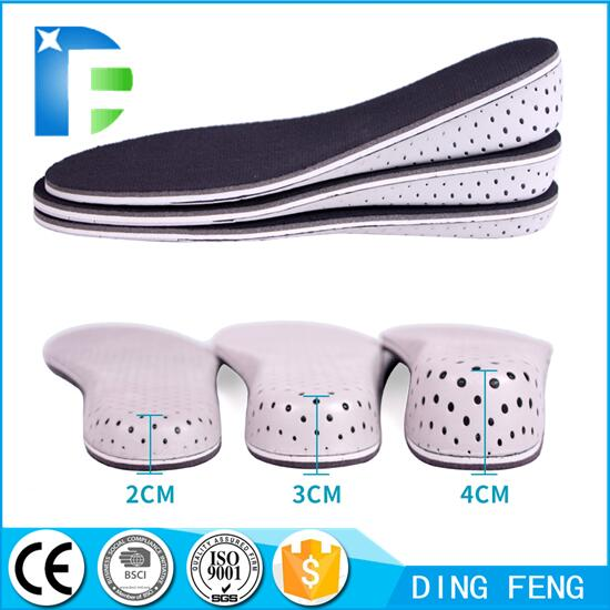 Breathable Height Increase High Full Shoe Insoles Memory Foam Shoe Inserts Cushion Pads Lift Kits Elevator Insoles