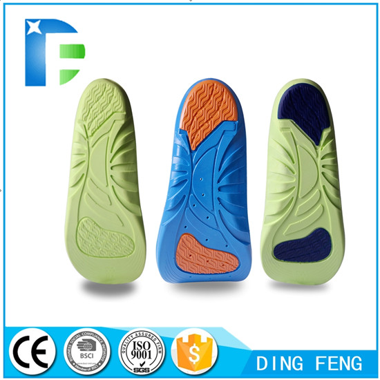 PU Foaming Gel Orthotic Sport Insoles Feet Care Shoe Inserts