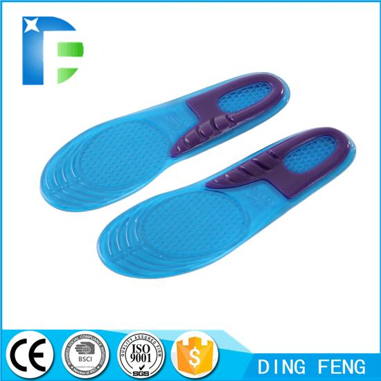 Honeycomb Silicone Gel insole for running hiking