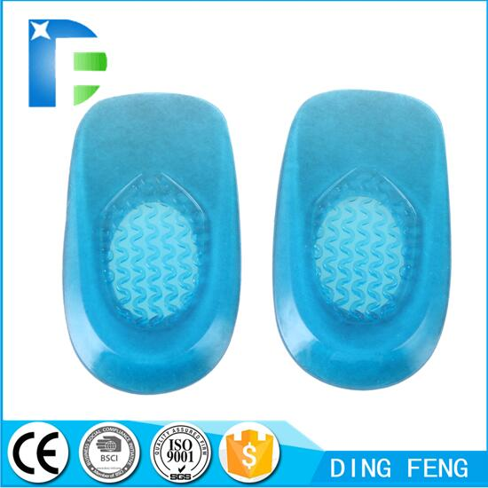Gel Heel Cushion Pads Pain Relief Massaging Foot Care Inserts