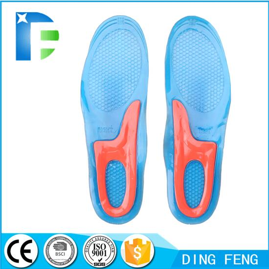 Silicone Gel Comfort Massaging Insoles with Foot Feet Care