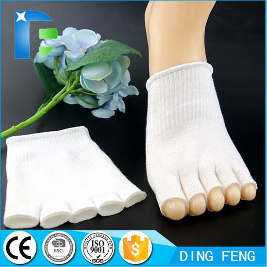 Gel-Lined Compression Toe Separating Socks Heel Pain Relief, Gel Toe Socks Separate Straighten Cushion Toes Sock Comfy Protect Feet